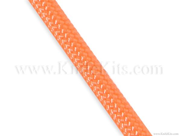 Braided paracord nylon parachute cord safety orange