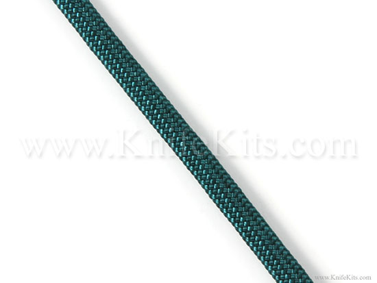 Braided paracord nylon parachute cord steel green