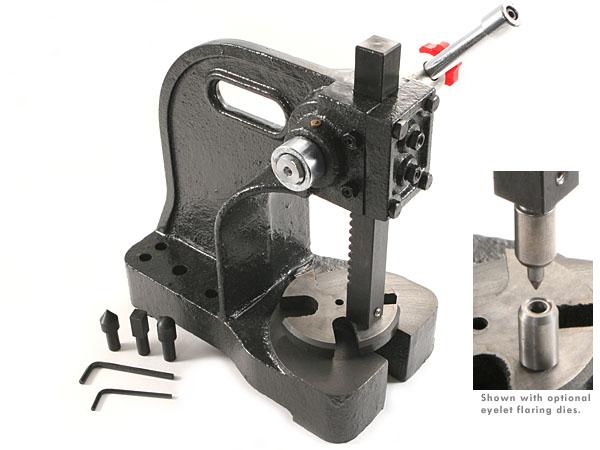 CKK Rivet/Eyelet Flaring Press - Master Series - (For Sheath/Holster Making)