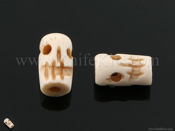 Bead Skull Carved Bone Handmade Dual Face 2 Pack Knifekits Com