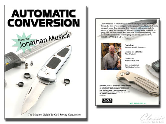 AUTOMATIC KNIFE CONVERSION (Coil Spring) - DVD Instruction