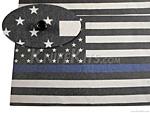 KYDEX™ Sheet - USA Flag - Thin Blue Line - B/W - Infused - (.080)