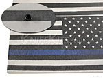 KYDEX™ Sheet - USA Flag - Thin Blue Line - B/W - Reversed - Infused - (.080)
