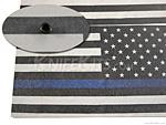 KYDEX™ Sheet - USA Flag - Thin Blue Line - B/W - Reversed - Infused - (.080)