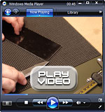 How to peel the protective layer from textured g10 - Click to download video